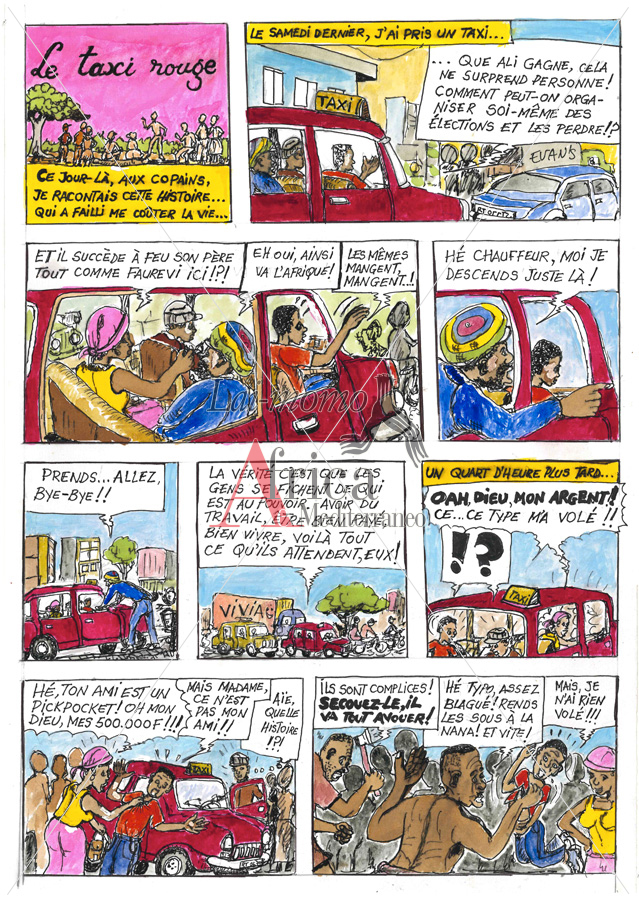 Le Taxi Rouge Africa Comics